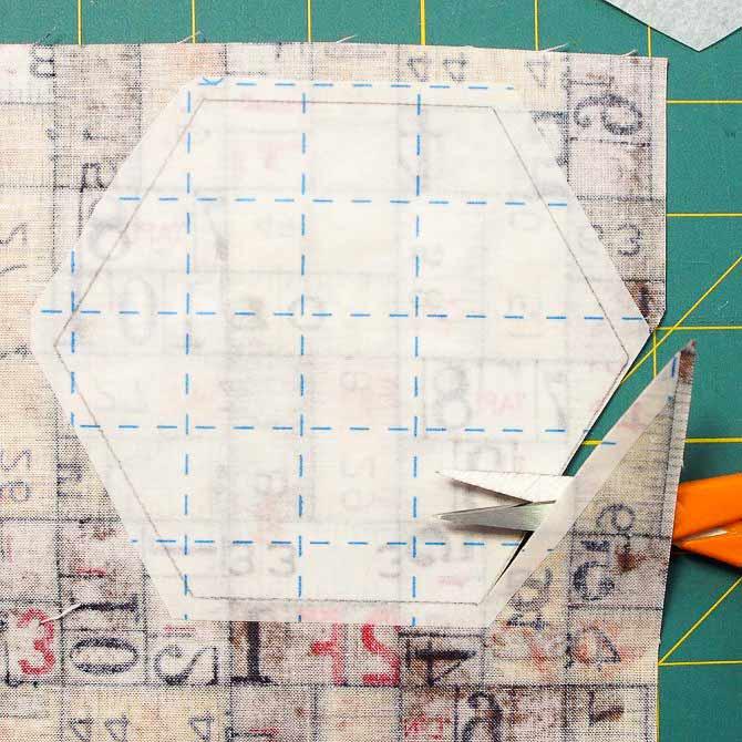 Cut shapes along the line