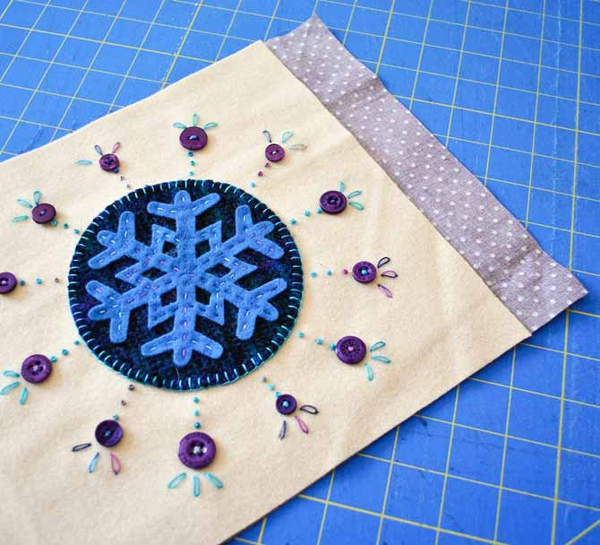 "Cut the lining fabric 3½"" longer than the outside of the bag"