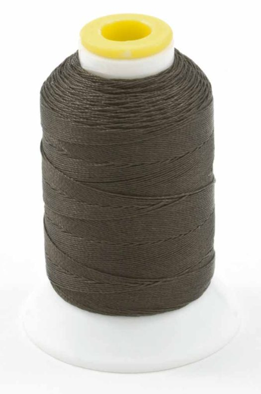 200yd spool of Coats Outdoor Thread in gray