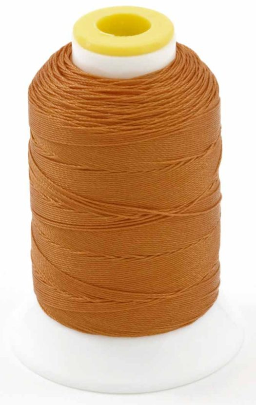 200yd spool of Coats Outdoor Thread in orange