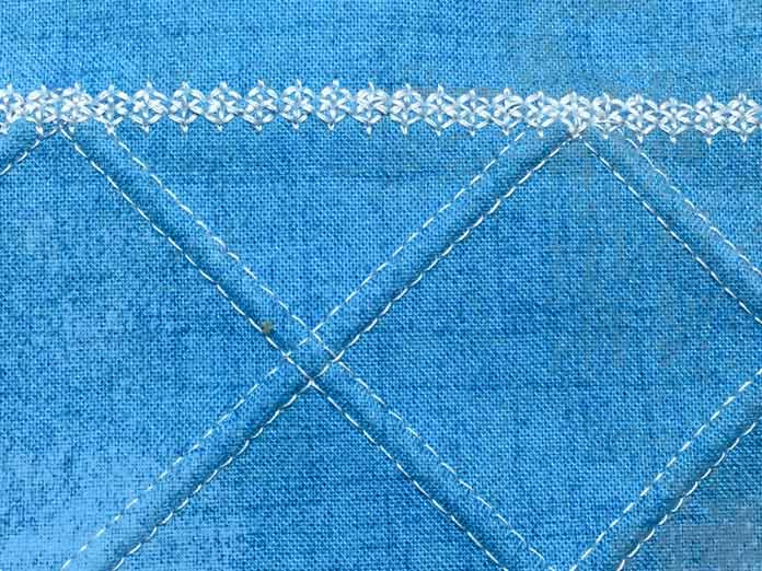 Decorative stitch using 1.6 twin needle