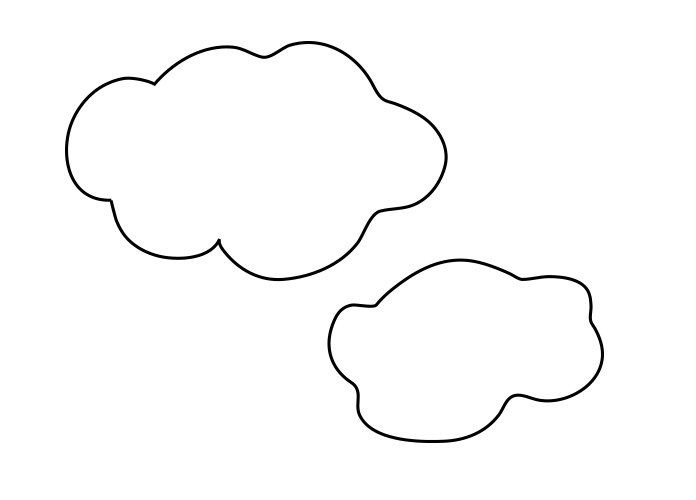 2 cloud shapes, but I encourage you to draw your own.