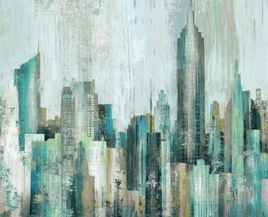 Northcott's City Scene fabric line has a beautiful panel that looks like an oil painting.