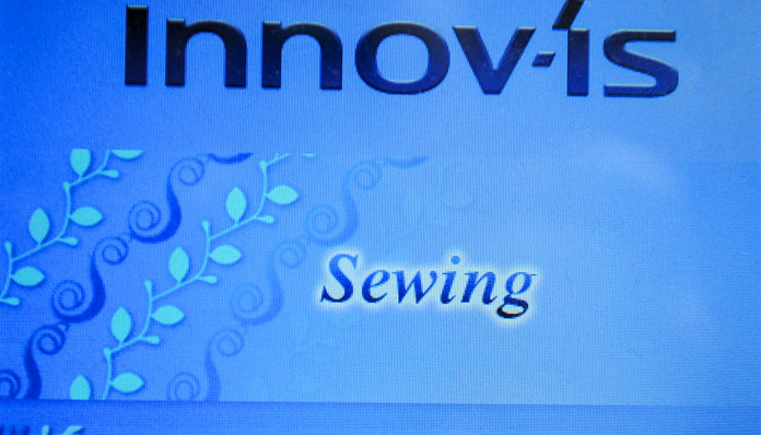 "Select ""Sewing"" on the Home Screen"