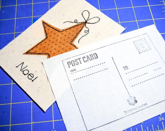 Postcard stencil