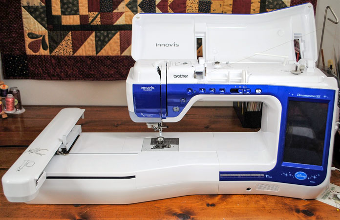 The installed embroidery unit