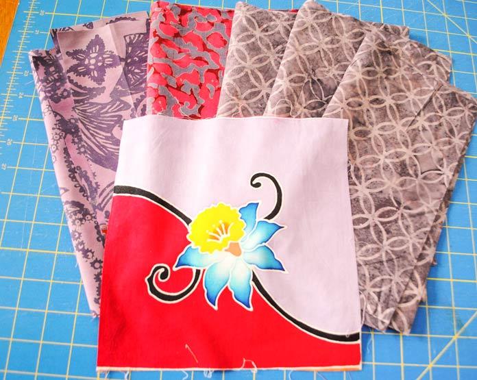 Batik art panel and coordinating fabrics