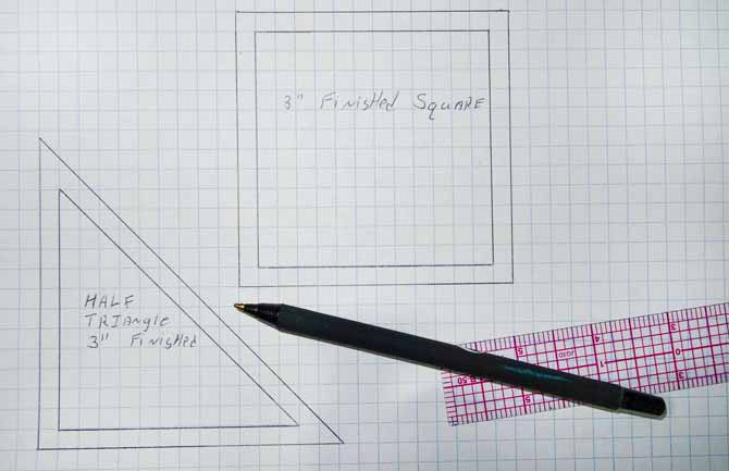 Template drawing, teaching the new quilter the basic skills