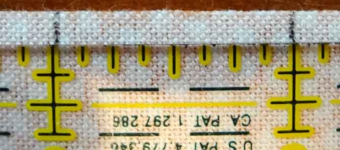 When marking the a strip you may need to compensate the marking width by moving the ruler slightly to the left of the previous marking.