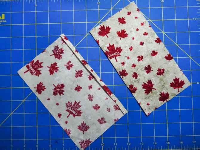 Fabric pieces for the inside book covers