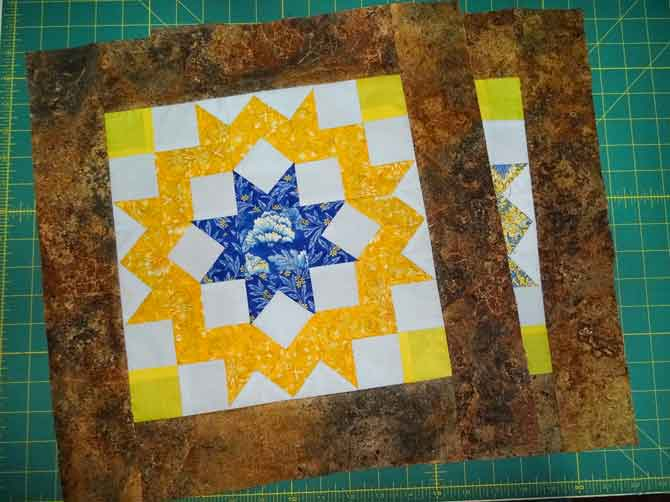 Orphan block with borders added