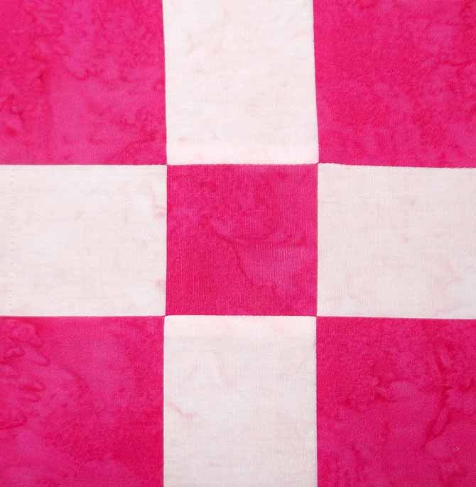 Completed quilt block with nice flat seams