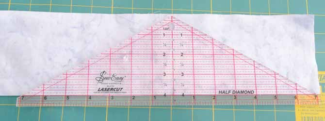 "The SEW EASY Half Diamond Ruler - 4½"" x 14¼"" is the best ruler for making 3D tumbling block quilts."