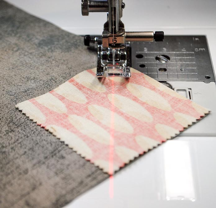 Sew along the diagonal