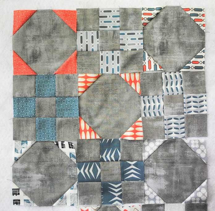 Nine-patch and snowballs blocks