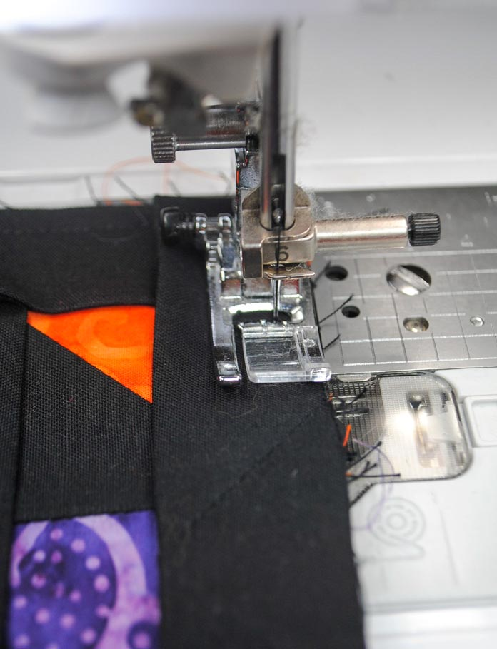 "Sew with a ¼"" seam"