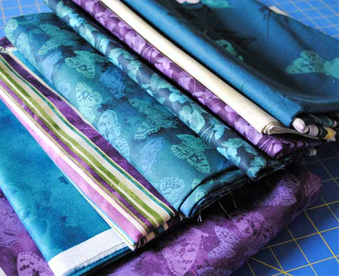 Mystic Garden fabrics ready for sewing!