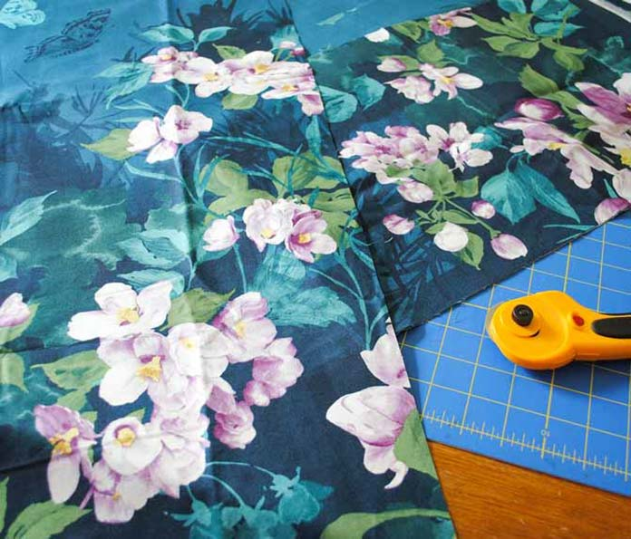 Large fabric sections for the quilt