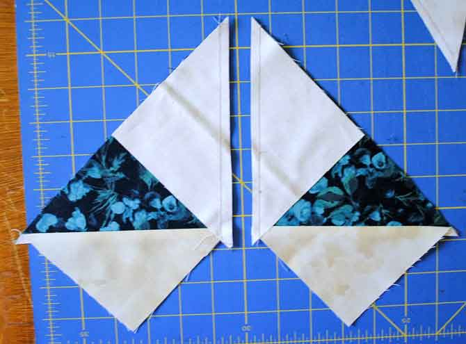 Sew on either side of the drawn line and then cut along the line