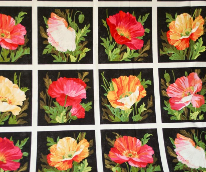 One of the panels that is included with the Full Bloom fabric line from Northcott.