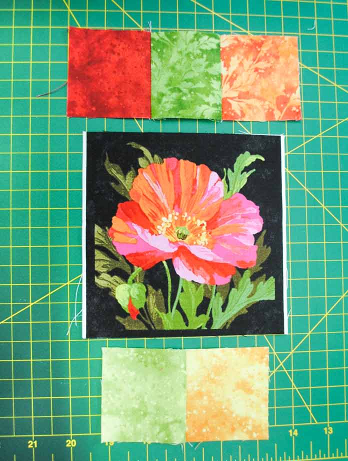 Due to a cutting error, the trimmed squares won't fit the pieced borders so an inner border must be added.