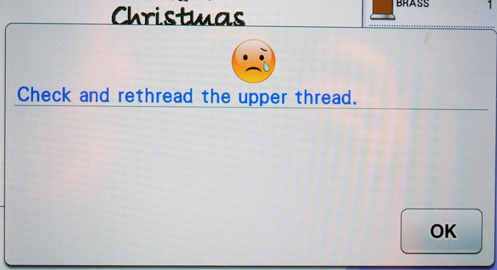 Thread warning pop up screen