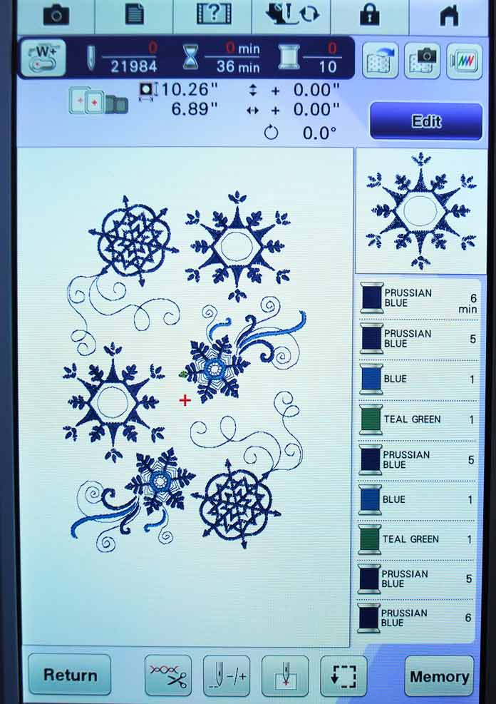 The snowflake designs