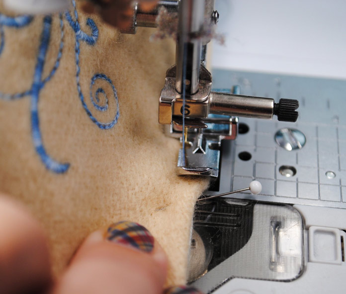 Stitching the opening closed