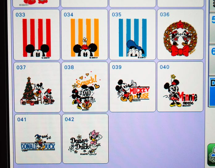 Mickey Mouse Christmas designs