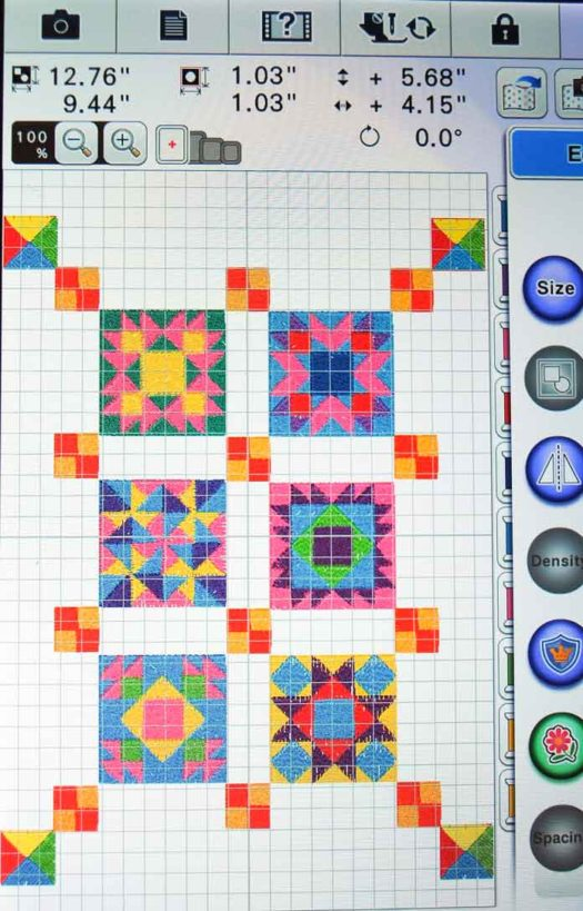 The final miniature quilt design