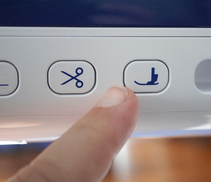 """The """"Presser Foot Lifter"""" button"""