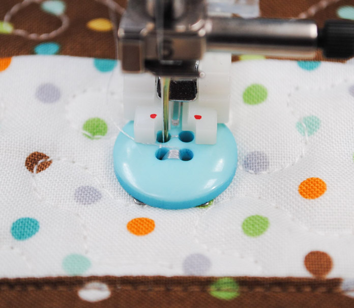Stitching the second two holes