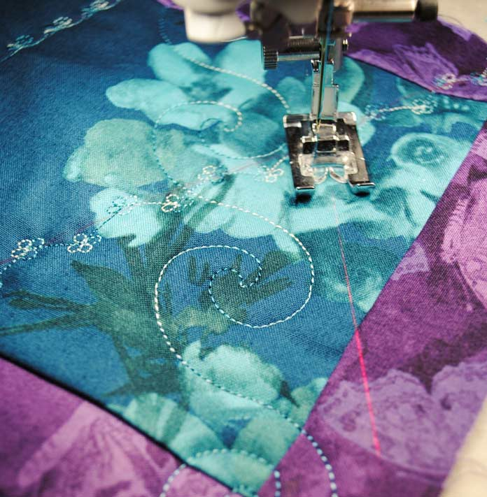 Large decorative swirl stitch