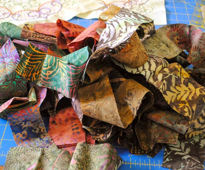 Strips of batiks