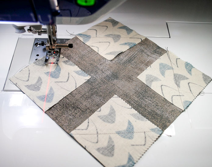 Sewing the corner triangles