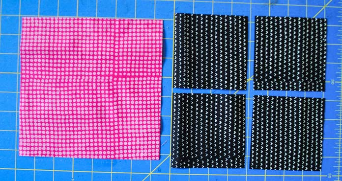The fabric squares