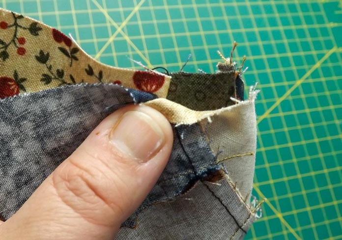 Pin at the seams.