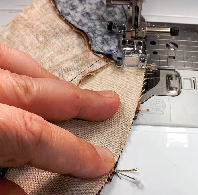 Sewing the seam