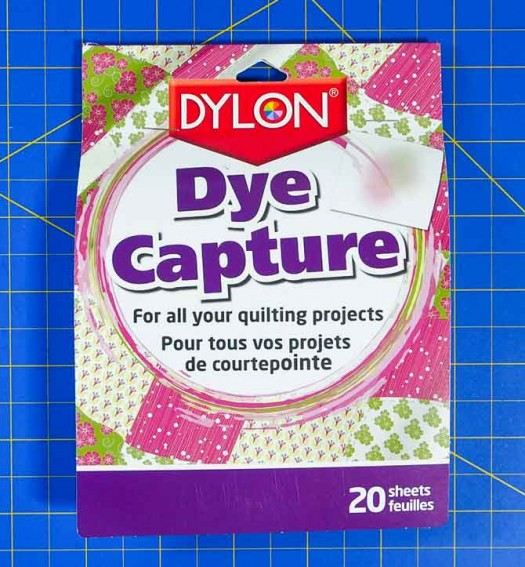 Package of dye capture sheets