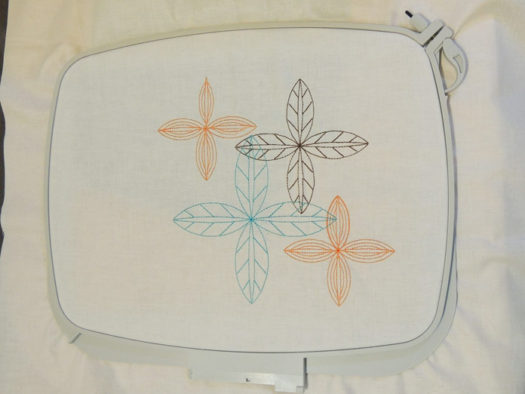 Custom embroidery design made with multiple designs