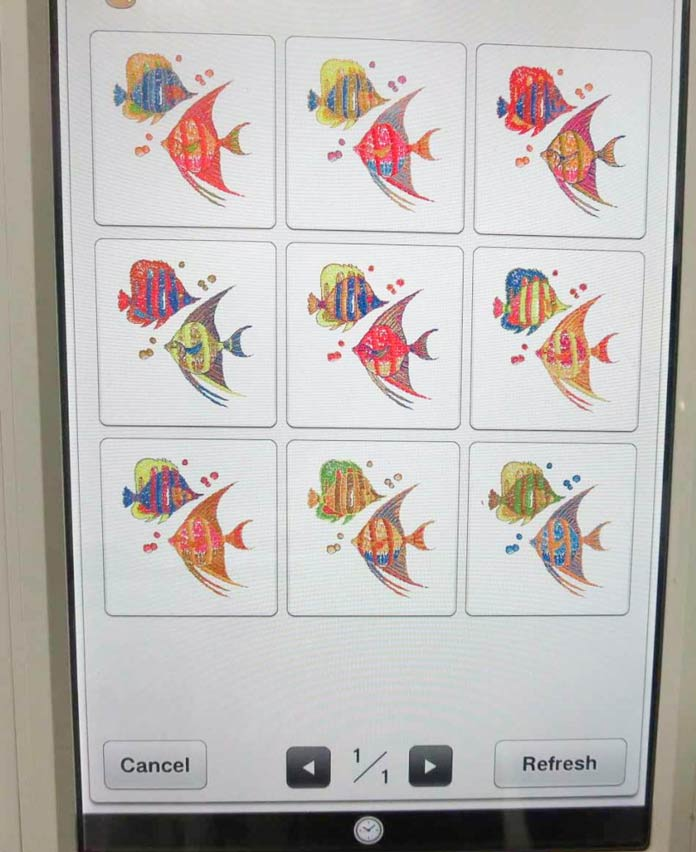 """Vivid"" coloring variations for the fish design"
