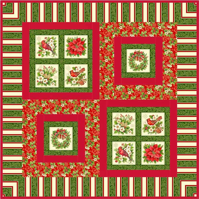 'Tis the Season wall quilt or table topper