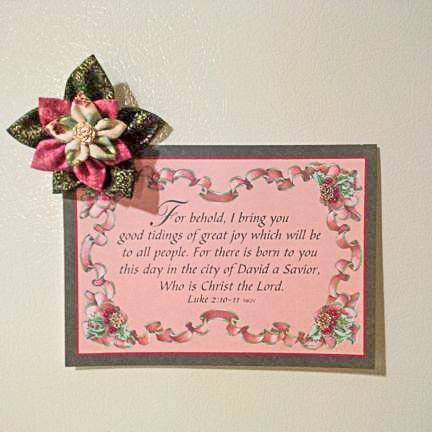 Fabric flower fridge magnet