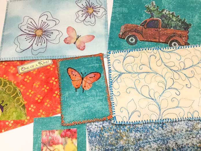 Nature Artist Trading Card Backgrounds Precut and Ready To Go!