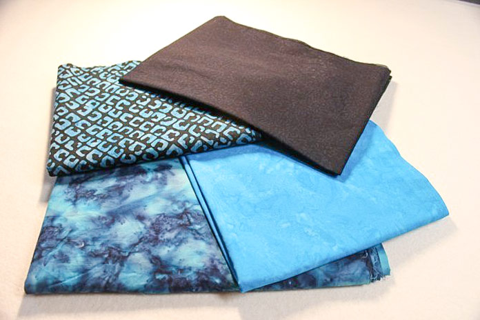 Banyan Batiks Color Blocking fabrics for next week's free quilting project, Deep Waters, starting Monday April 1!