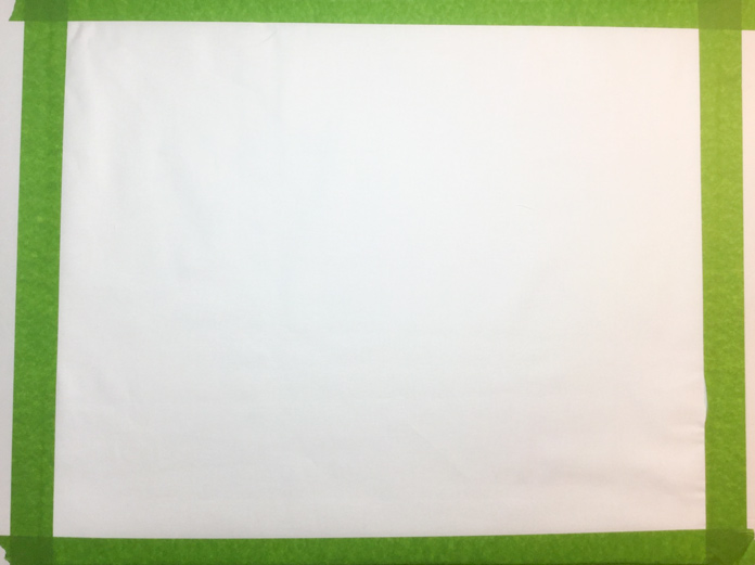 Fabric taped in place on cardboard or foam board