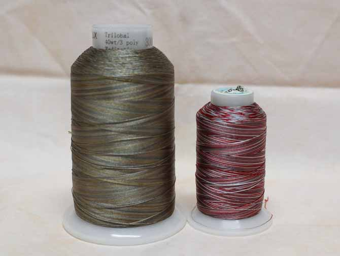 WonderFil's Fabulux thread is available in large cones, 3000 yards [2743 meters] and small spools, 655 yards [700 meters]