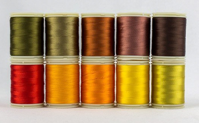 WonderFil's rayon thread pack in the fall colorway