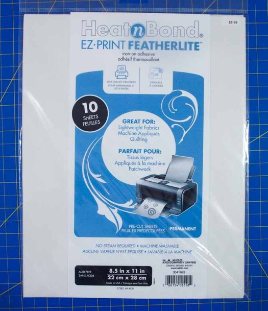 Fusible web printable sheets