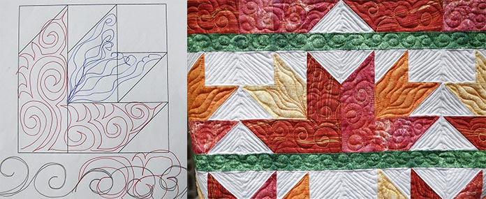 The power of paper, marker and clipboard for free motion quilting designs